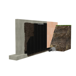 Sopra-XPS foundation with Torch'n Stick