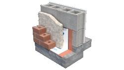 Sopra-SPF mur de bloc de béton