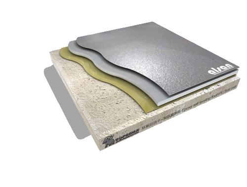 epoxy self-leveling+ polyurethane system