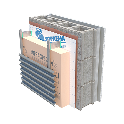 EXTERIOR INSULATED CONCRETE STICK 1100 T XPS 20