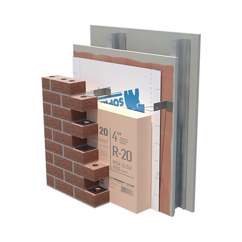 EXTERIOR INSULATED STEEL STICK 1100 T XPS 20