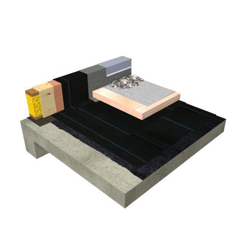Toiture à membranes protégées (TMP) Sopraply Base 520