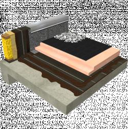 Protected Membrane Roof (PMR) - Adhesive