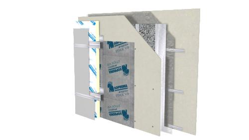 Sopra Cellulose Hybrid Wall Steel Studs Soprema