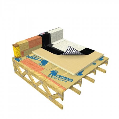 Conventional , Self-adhered , Wood deck