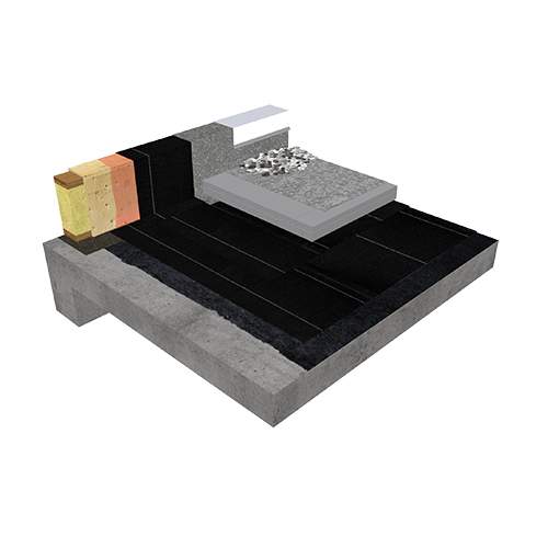 Protected Membrane Roof (PMR) Sopraply Base 520